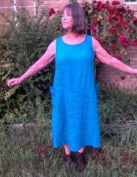 tessuti lily linen dress pattern review by cookiescatt