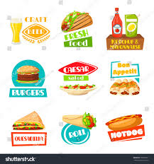 snack bar menu template fast food meals icons menu template stock vector 709565911