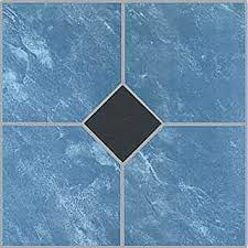 12 x 12 vinyl tile in blue marble black quantity 20