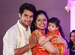 actress aadi daughter naming ceremony photos finally they have