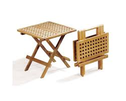 folding picnic round table a grade teak folding garden coffee