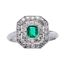 vintage emerald engagement rings vintage emerald engagement ring collection from t h trumpet horn