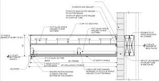 canopy floor plan connection details by wall type architectural fabrication