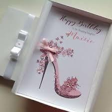 personalised handmade birthday card mum daughter sister 18th 21st