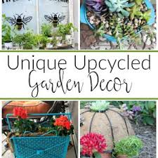 Upcycled Garden Decor Upcycle Projects Domestically Creative