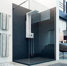 fixed shower screen curved infinity usluga glass