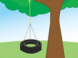 how to make a tire swing with pictures wikihow