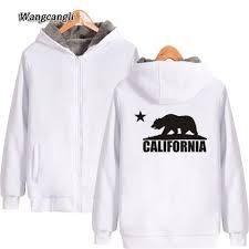 California Flag Bear Wangcangli 2017 California Flag Bear Winter Hoodies Cotton Kinds