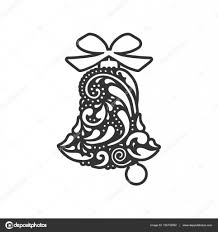 bell with geometric pattern vector design laser cutting template