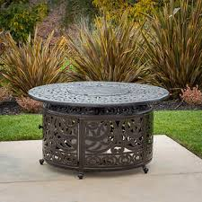 Costco Outdoor Furniture With Fire Pit by Sedona Cast Aluminum Lpg Round Fire Pit