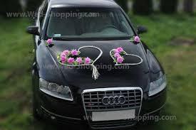 hochzeitsdekoration auto autoschmuck hochzeit mauve farbe roses rattanherz