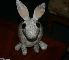 paper mache rabbit paper mache bunny chloé how is my bunny haha i put flickr