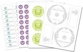 wedding labels template
