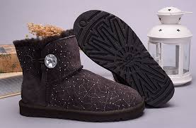 ugg womens mini sale cheap ugg womens mini bailey button bling constellation 1008822