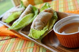 rice paper wrap salad rolls w dipping sauce tessa the domestic