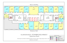 Rectangle Floor Plans Claflin Hall Housing Boston University