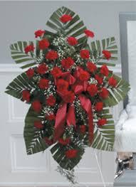 red carnation standing spray u2013 allen mortuary