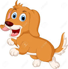 cute little dog cartoon expression royalty free cliparts vectors