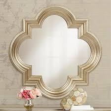 farley silver 34 1 2 x 34 1 2 quatrefoil mirror style 6r683