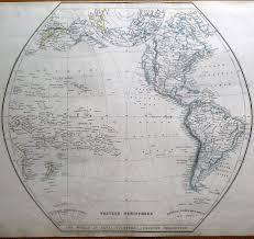 Map Of Western Hemisphere World Eastern U0026 Western Hemispheres Pair Of Sharpe Original