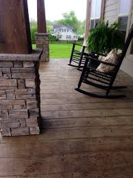 stamped concrete that looks like wood frontporch farmhouse