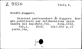 bong bach italy vilnius library scanned card catalogue publications