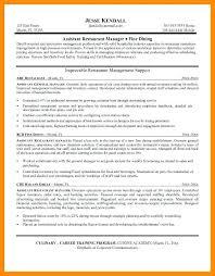 restaurant manager resume template restaurant general manager resume resume for a restaurant amazing