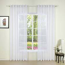 white sheer curtains images rod pocket grommet top tab double
