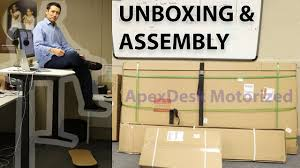 apex motorized standing desk unboxing u0026 assembly youtube