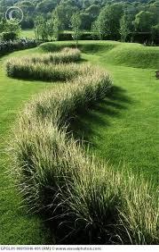 serpentine grass hedge gardens landscaping garden