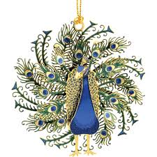 chemart peacock collectible ornament ornaments gifts food