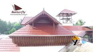 New Look Home Design Roofing Reviews by Roofing Sheets In Kerala Truss Roof With Clay Tile Youtube