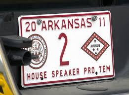 arkansas state representatives u0027 license plates arkansas elected