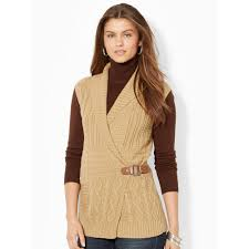 sweater vest womens lyst by ralph wrap shawl collar sweater vest in