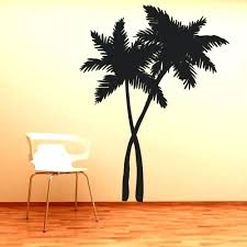 wooden palm tree wall decor modern white birch wall cat tree could