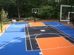 Backyard Pool And Basketball Court Best 25 Backyard Basketball Court Ideas On Pinterest Outdoor
