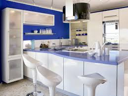 White And Blue Kitchen Cabinets by Kitchen Chairs Kitchen Ideas Custom Blue Varnished Kitchen