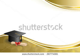 graduation frame background abstract beige education graduation cap stock vector