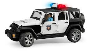 land rover bruder amazon com jeep rubicon police car with policeman toys u0026 games