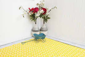 Yellow Indoor Outdoor Rug Indoor Outdoor Rug Yellow U0026 White Arabian U2013 Allissias Attic