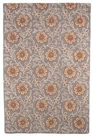 Orange Modern Rug by Beautiful Modern Contemporary Hand Tufted Wool Rug 5x8 Grey Orange