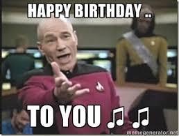 Star Trek Happy Birthday Meme - 13 best star trek birthday images on pinterest happy birthday