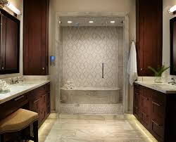 Rain Shower Bathroom by Miami Rain Shower System Bathroom Contemporary With Glass Tile Niche