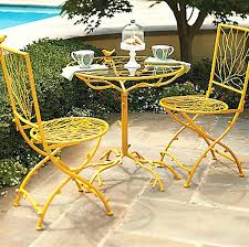 Yellow Bistro Chairs Small Patio Table And Chairs Fantastic Yellow Outdoor Table And