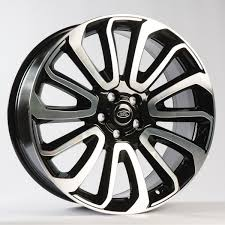 land rover white black rims range rover style 7 22 inch gloss black diamond turned