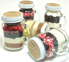 jar favors hot chocolate wedding favor 12 mini 4 oz jar mugs hot