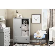 Baby Furniture Armoire South Shore Cotton Candy Armoire With Drawer Soft Gray Baby