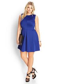 forever 21 plus size pleated scuba knit dress in blue lyst