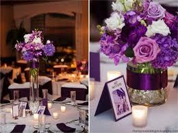 purple wedding decorations purple flower wedding centerpieces design decoration
