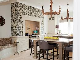 textured accent wall kitchen textured wallpaper backsplash painted with aged copper